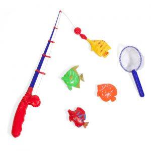 Set za pecanje - štap i ribice sa magnetima i mreža