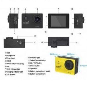 Sports Full HD 1080P DV 2.0 Inča LCD 3