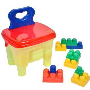Stolica za decu sa kockicama