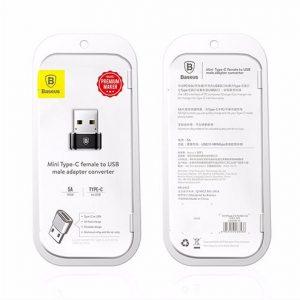 Adapter BASEUS Type C zenski na USB muski crni 3