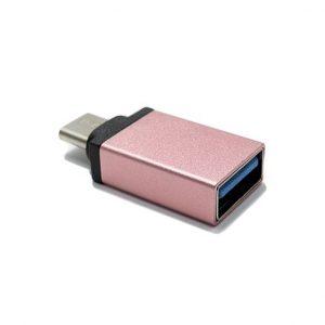 Adapter OTG Type C USB meltalni roze