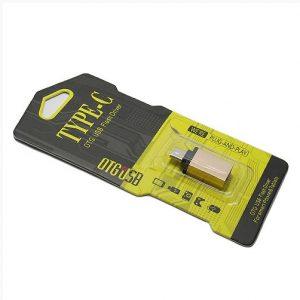 Adapter OTG Type C USB meltalni zlatni 2