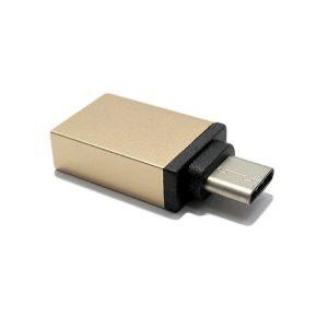 Adapter OTG Type C USB meltalni zlatni
