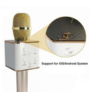 Mikrofon karaoke bluetooth Q7 Zlatni 2