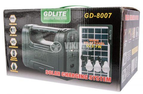 Solarni sistem GD-8007 9V, 3-7W Novo 1