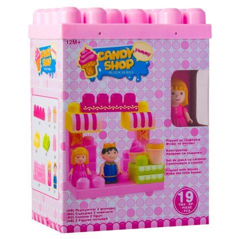 Kockice i dve figure - Candy shop