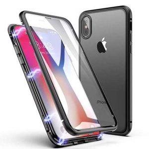 Futrola Full Cover magnetic frame za Iphone XR crna