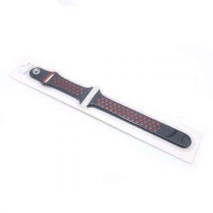 Narukvica za Apple Watch 1-4 sat silikon crno-crvena (CN18)