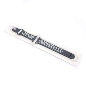 Narukvica za Apple Watch 1-4 sat silikon crno-bela (CN14)