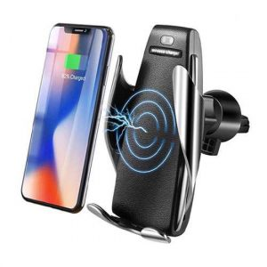 Drzac za mobilni telefon i WiFi punjac S5 Smart charger FAST crno-sreb (ventilacija)