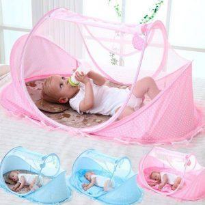Prenosivi sator sa mrezom protiv komaraca za bebe
