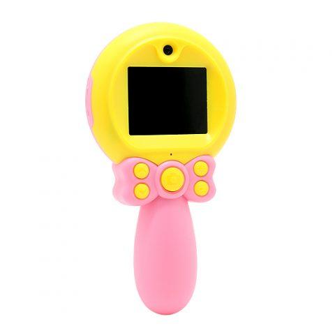 Fotoaparat za decu sa drskom roze-zuti