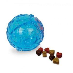 TPR lopta za poslastice 8cm plava