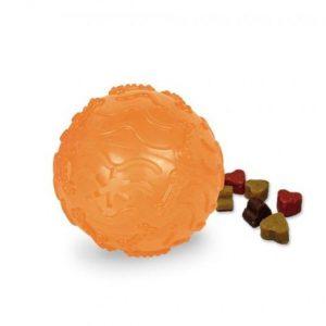 TPR Lopta za poslastice 8cm oranž