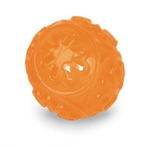 TPR Lopta za poslastice 7cm oranž