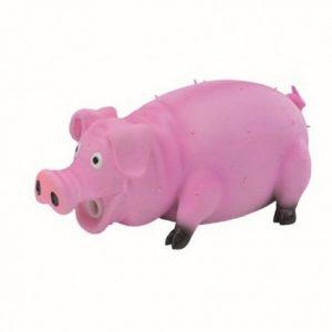 Igračka za pse prase roze 21cm latex