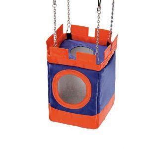 Igračka za hrčka viseći najlon zamak 10x10x19cm